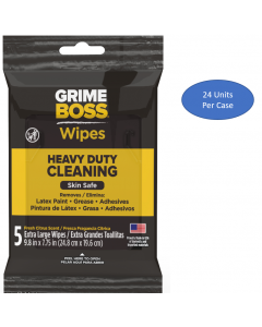 Grime Boss Heavy Duty Hand & Surface Wipes (120 Total Wipes)