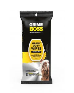 Grime Boss Heavy Duty Hand & Surface Wipes (30 Total Wipes)