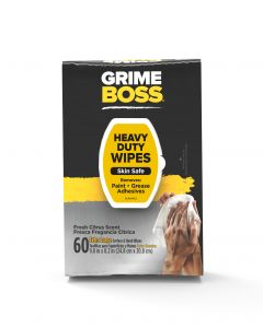 Grime Boss Heavy Duty Hand & Surface Wipes (60 Total Wipes)