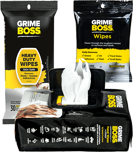 GRIME BOSS Surface & Hand Wipes